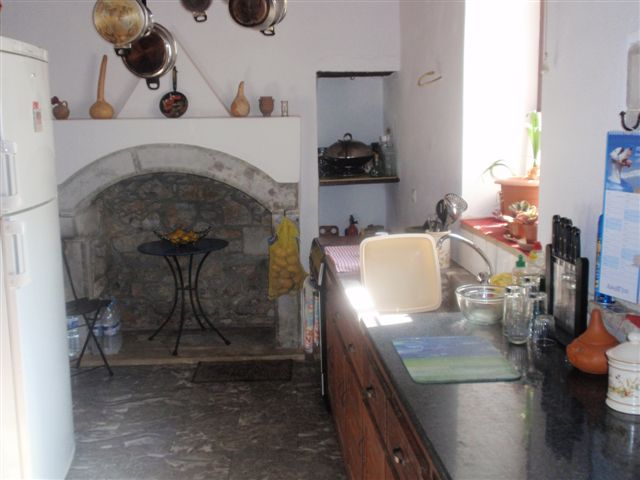 old renovated house for sale in village crete greece