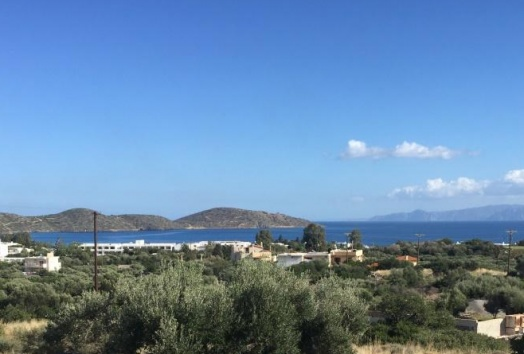 plot for sale in elounda, crete, seaview