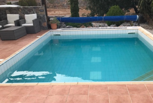 vila for sale, crete, seaview, spinalonga, pool
