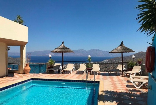 vila for sale, crete, elounda, pool, seaview