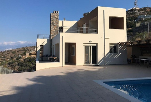 vila, for sale, elounda, crete, pool, seaview,